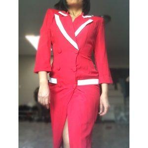 Dresses & Skirts - Vintage red dress jacket.